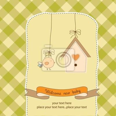 neues Baby Ankündigung Karte mit Huhn