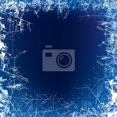 Sticker Neujahr Hintergrund. Mattglasbeschaffenheit. Nacht frosted Fenster. Vektor-Illustration
