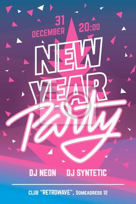 Neujahrsparty Poster / Flyer Vorlage. Vektor.