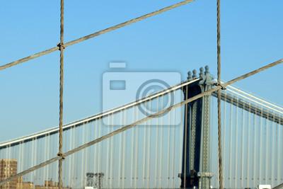 New York Brooklyn Bridge Kabel auf Manhattan-Brücke