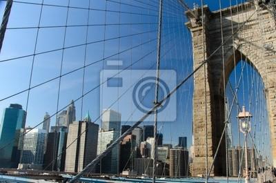 New York, Brooklyn Bridge Post - Vereinigte Staaten
