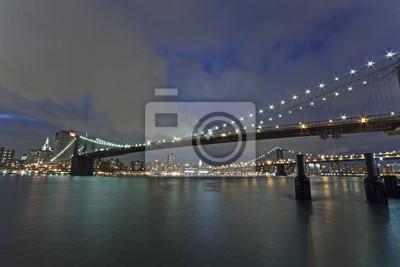New York - Brooklyn Bridge und Lower Manhattan