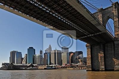 New York Brooklyn Bridge und Manhattan