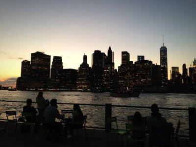 New York Brooklyn Tramonto