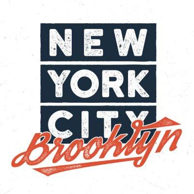 Sticker New York City Brooklyn - T-Stück Entwurf für Druck