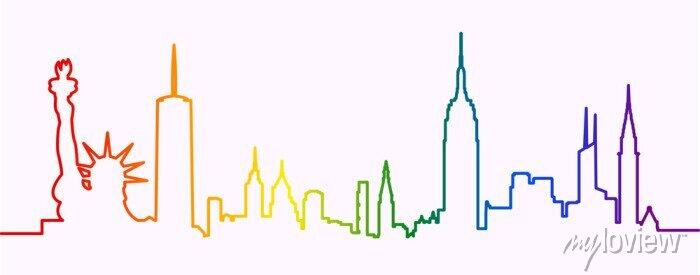Sticker New York City Gay-Friendly Skyline Profile