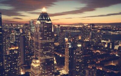 Sticker New York City Skyline bei Nacht