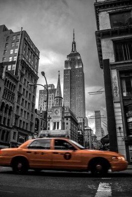 Sticker New York City Straße in den Abend