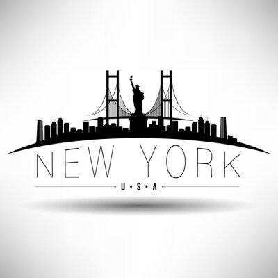 Sticker New York City-Typografie-Entwurf