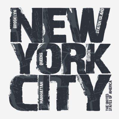 Sticker New York City Typografieentwurf
