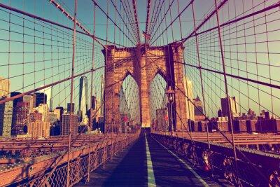 Sticker New York City von der Brooklyn-Brücke
