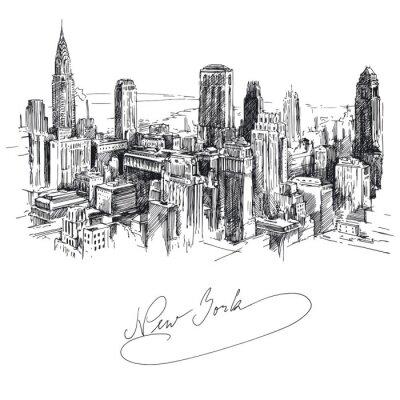Sticker new york - Hand gezeichnete Metropole