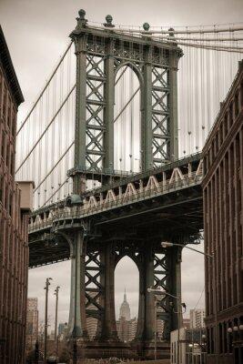 Sticker New York Manhattan-Brücke