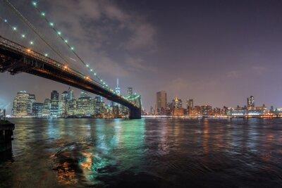 Sticker New york nachtansicht von brooklyn