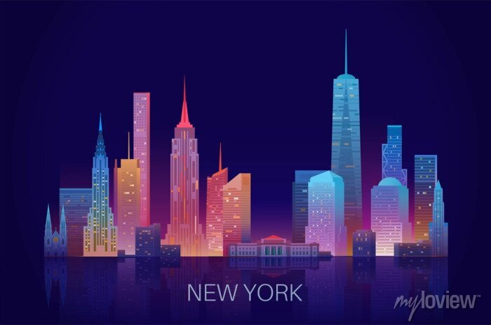 Sticker New York skyline