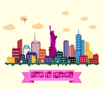 Sticker New York Skyline der Stadt