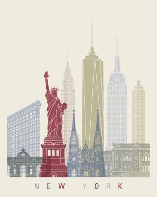 Sticker New York Skyline-Plakat
