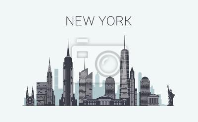 New York Skyline Silhouette