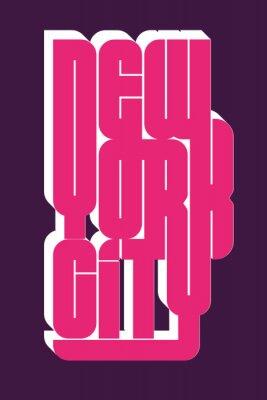 Sticker New York Sportabnutzungstypographieemblem, T-Shirt Stempelgraphiken