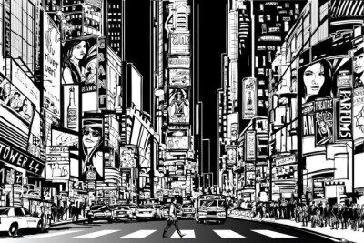 New York Stadt bei Nacht