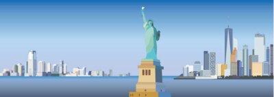 Sticker New York-Stadt Silhouette