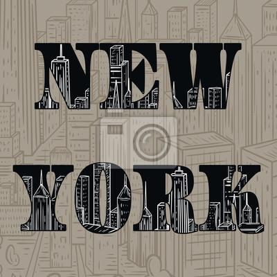 New York. Vektor-Illustration in der Linie Kunst-Stil