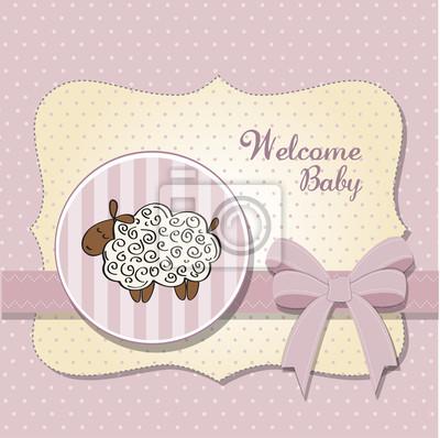 niedliche Baby-Dusche-Karte mit Schaf