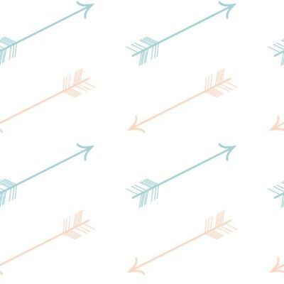 Sticker Niedliche Pastellfarbe rosa blaue Pfeile nahtlose Vektor-Muster Hintergrund Illustration