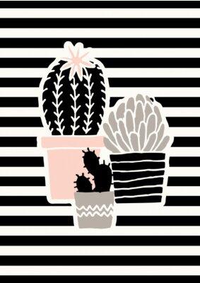 Niedlicher Kaktus-Plakat-Entwurf