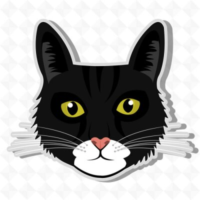 Sticker Niedlicher Katzenentwurf