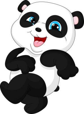 Sticker Niedlicher lustiger Babypanda