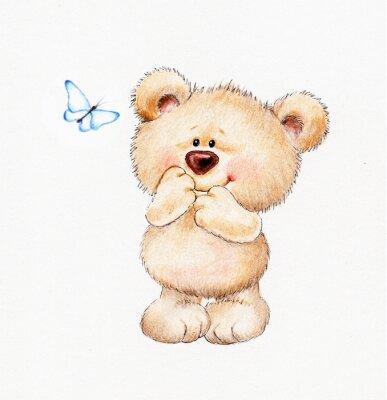 Sticker Niedlicher Teddybär