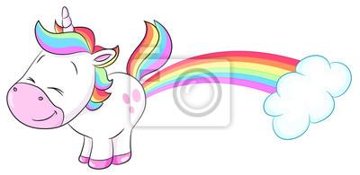 niedliches einhorn pupst regenbogen vektor illustration notebook jpg 400x195 regenbogen einhorn bild herunterladen