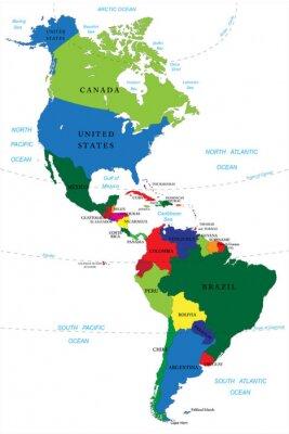 Sticker Nord-und Südamerika Karte