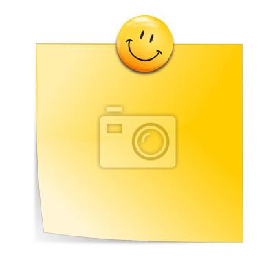 Notizzetel mit smiley-Magneten
