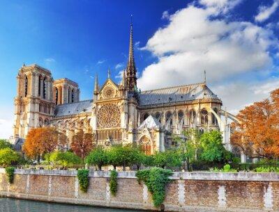 Sticker Notre Dame de Paris Cathedral.Paris. Frankreich.