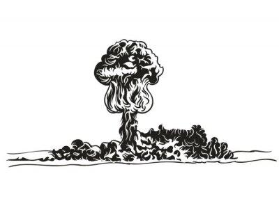 Nukleare Explosion Vektorbild.