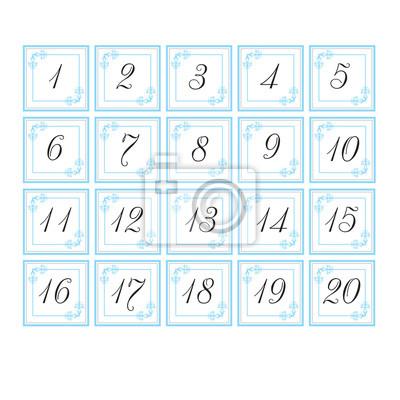Nummernkarten