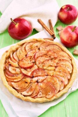 Sticker Obst Apfelkuchen auf Backpapier