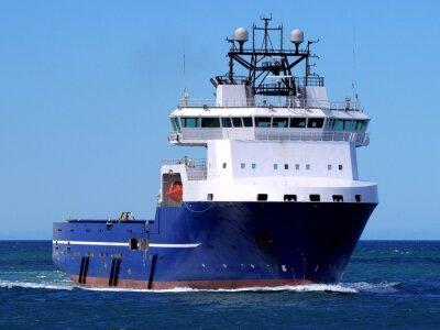 Sticker Offshore-Versorgungsschiff F, Offshore-Versorgung Schiff unterwegs auf See zu Offshore-Anlage.