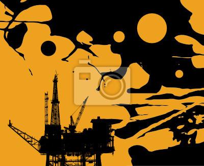 Öl-Plattform abstrakte Vektor-Illustration