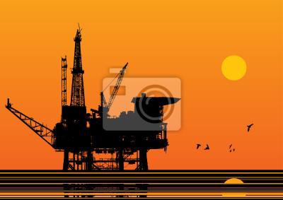 Öl-Plattform Vektor