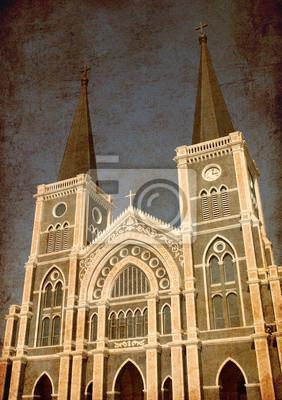 Old Grunge Foto der katholischen Kirche