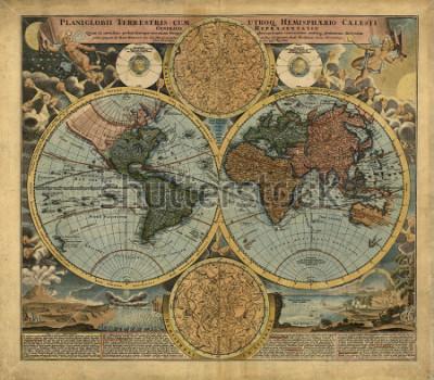 Sticker Old map