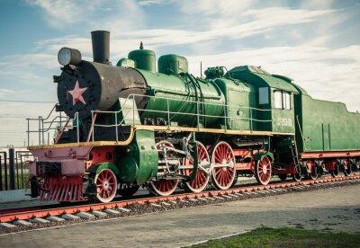 Sticker old steam locomotives of the 20th century