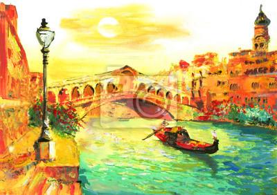 Ölgemälde - Venedig, Italien