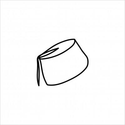 One line fez design. Hand drawn minimalism style vector illustration.