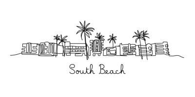 One line style South beach - Simple modern minimaistic style vector.
