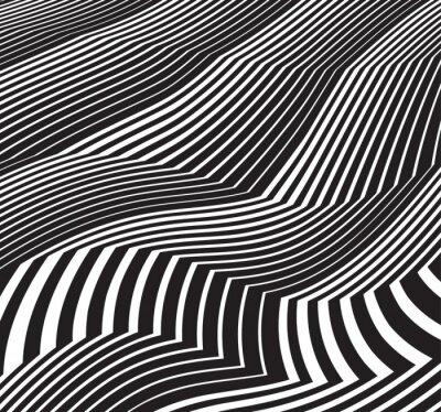 Sticker Optische kunst hintergrund abstract greyscale grafik schwarz und whit