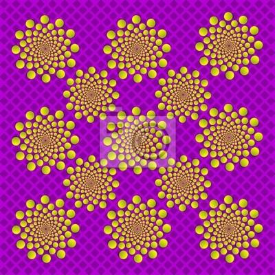 optische Täuschung buttonize Kreise
